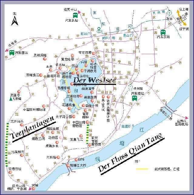 Stadtplan von Hangzhou