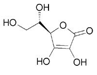 Structural formula ascorbic acid